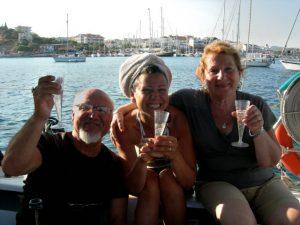 Başak con mamma Selma e papà Alp