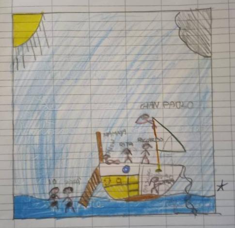 La barca a vela vista da un bambino